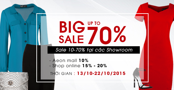 K&K Fashion big sale off nhân dịp 20/10