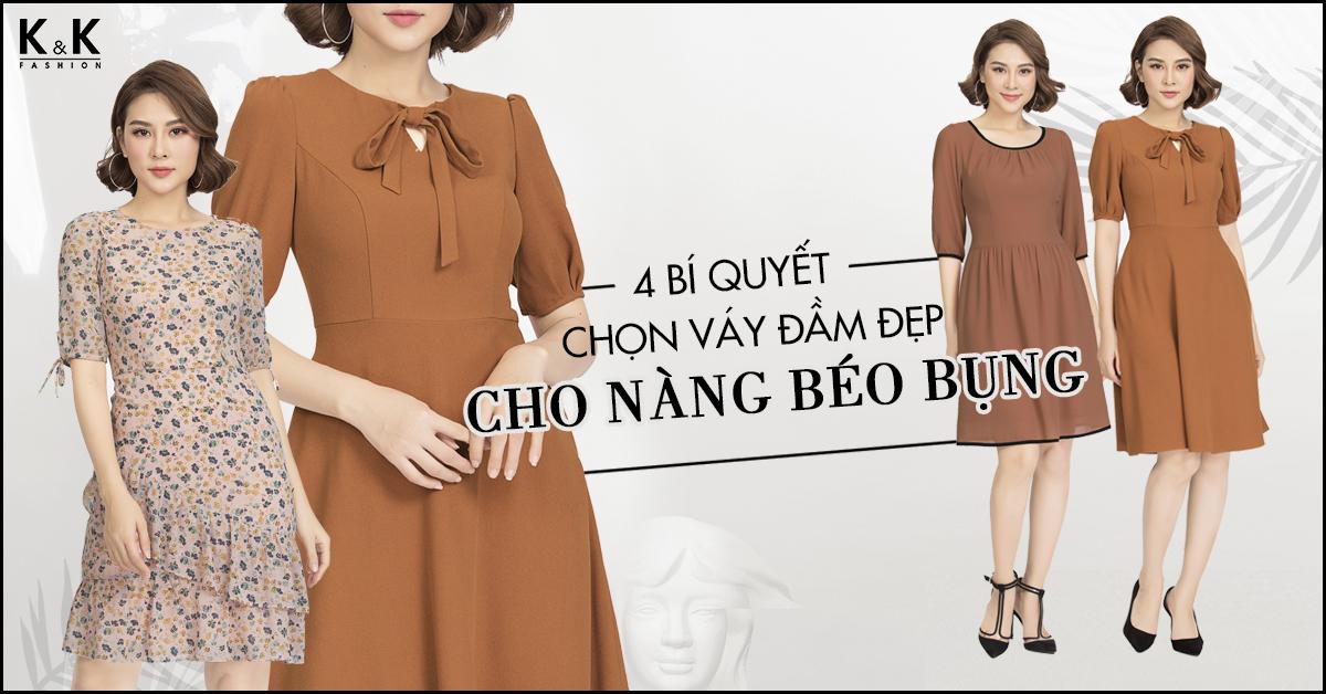 4 bí quyết chọn váy đầm đẹp cho nàng béo bụng