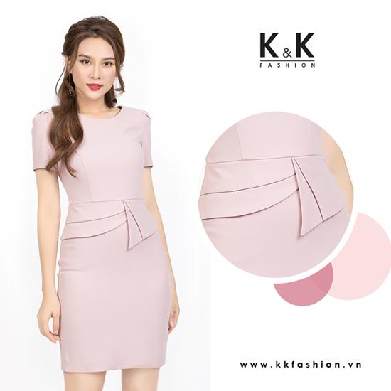 Đầm peplum sắc hồng ngọt ngào KK82-02