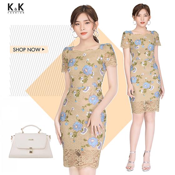 Đầm ren ôm body KK83-11