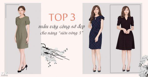 """Top 3 mẫu váy công sở đẹp cho nàng """"siêu vòng 3"""""""