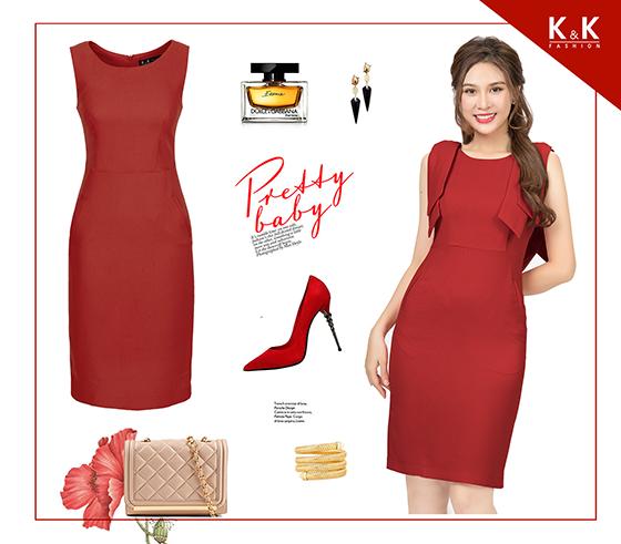 Đầm đỏ ôm body KK82-05