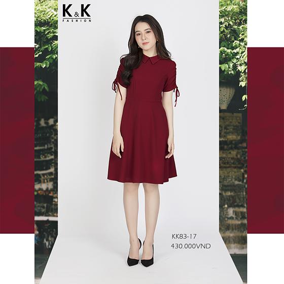 Váy liền đỏ xòe KK83-17