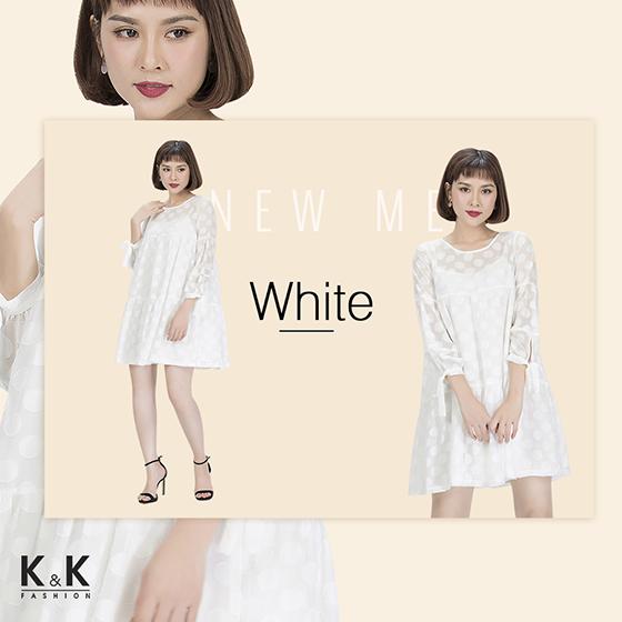 Váy liền suông trắng KK85-39