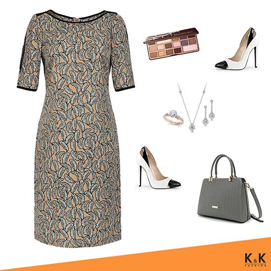 Đầm suông họa tiết KK87-13