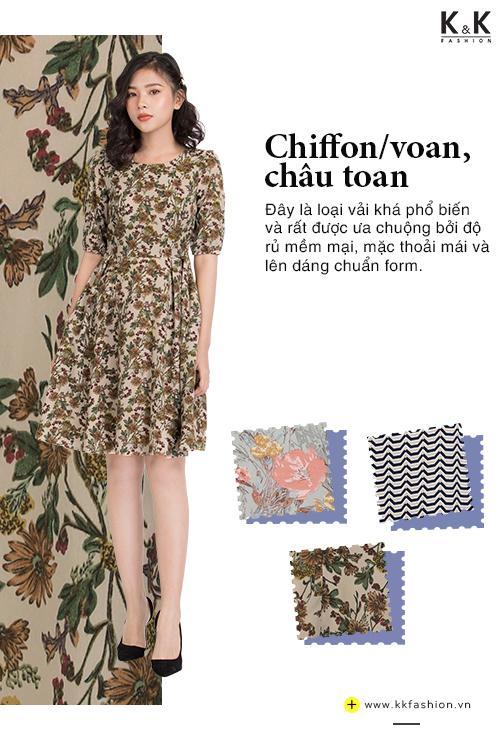 Đầm xòe họa tiết hoa KK87-24