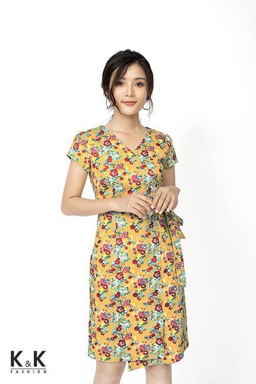 Váy quấn họa tiết hoa nổi bật KK81-01