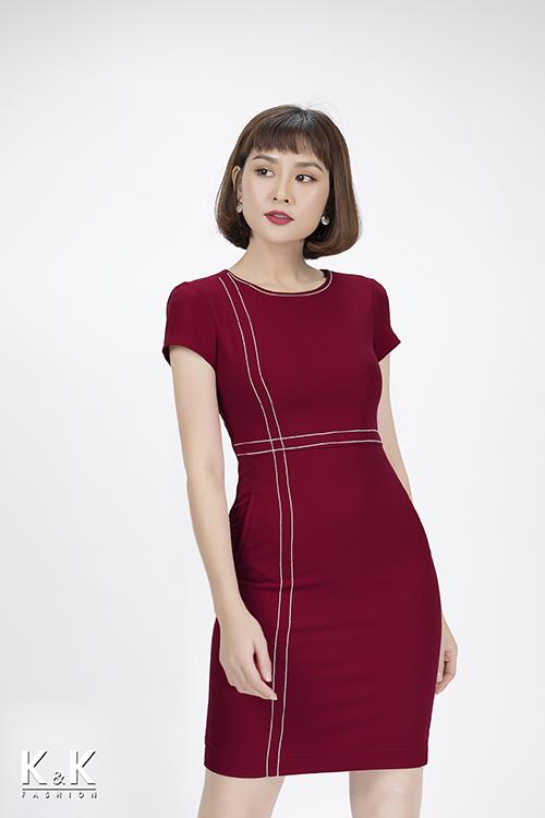 Đầm ôm công sở với sắc hồng rực rỡ KK82-08