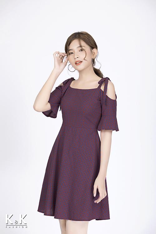 Đầm xòe caro KK83-12
