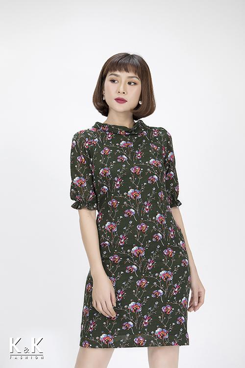 Đầm suông tay lỡ họa tiết nổi bật KK83-31