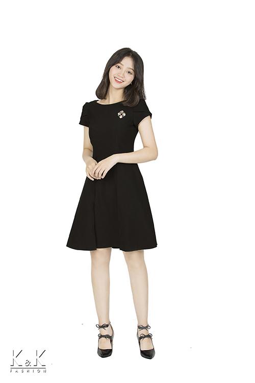 Đầm xòe tay con cổ tròn KK86-34