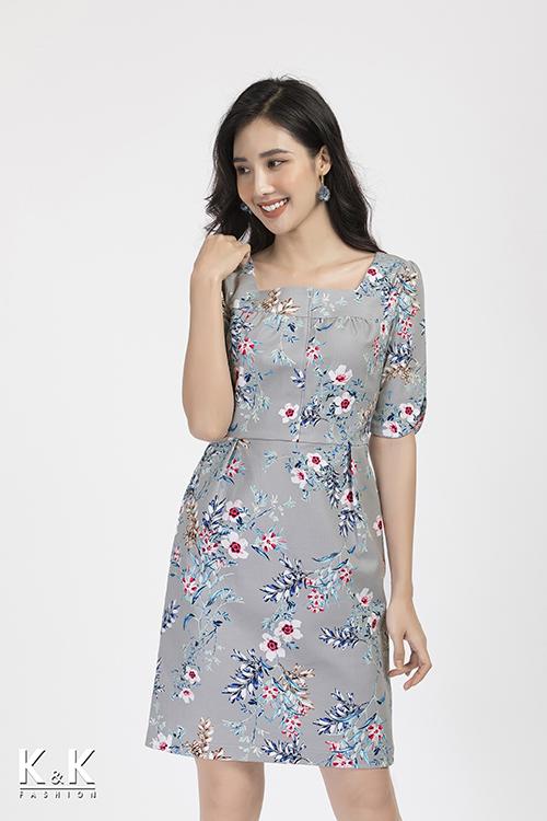 Đầm hoa tay lỡ KK87-02