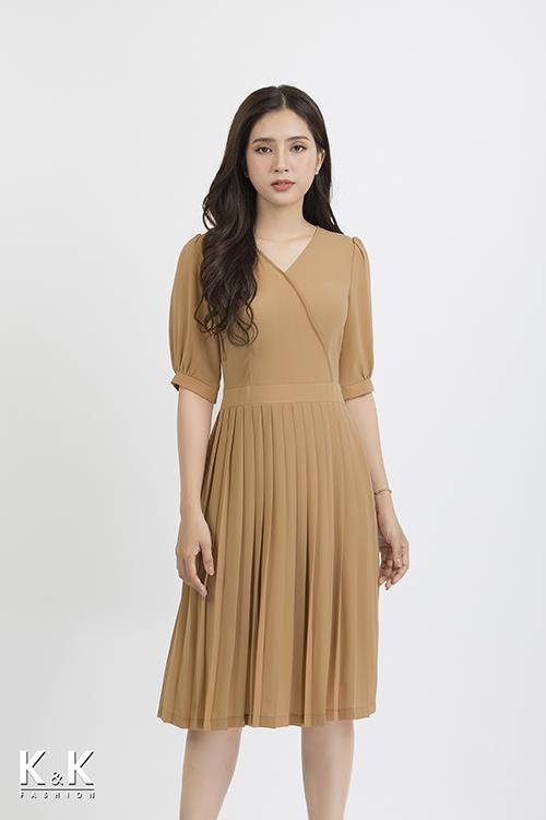Đầm xòe xếp ly KK87-36