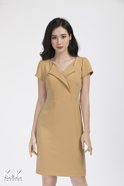 Đầm ôm cổ danton KK88-07